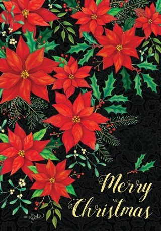 Christmas Poinsettia Flag | Christmas Flags | Two-sided Flags | Cool Flags