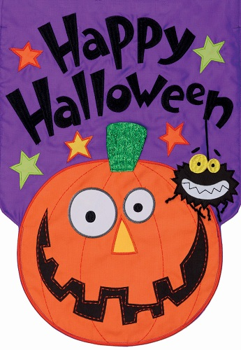 Friends Happy Halloween Applique Flag | Flags | Garden House Flag