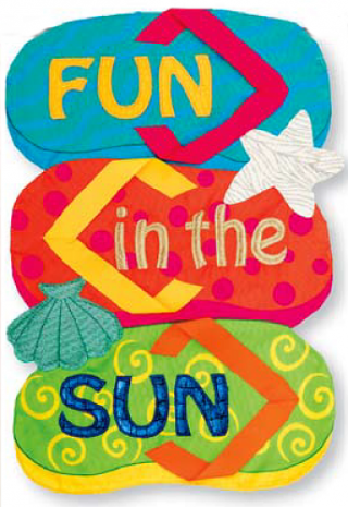 Fun in the Sun Applique Flag | Applique Flag | Cool Flag | Two Sided Flags