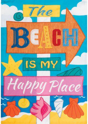 Happy Place Applique Flag | Applique Flags | Two Sided Flags | Cool Flags