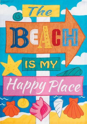Happy Place Applique Flag | Applique Flags | Flags | Garden House Flags