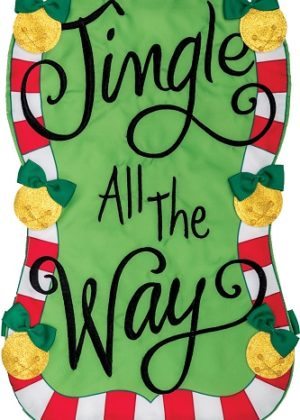 Jingle all the Way Applique Flag | Applique Flags | Christmas Flags | Flags