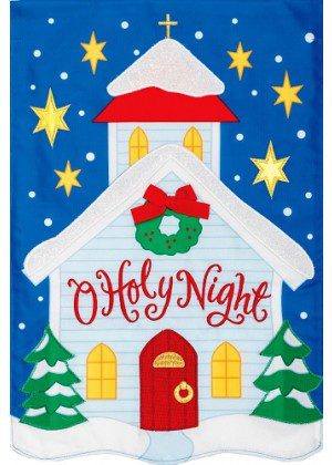 O Holy Night Flag | Applique Flags | Christmas Flags | Inspiration Flags
