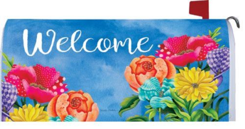 Patterned Posies Mailbox Cover | Mailbox Covers | Garden House Flags