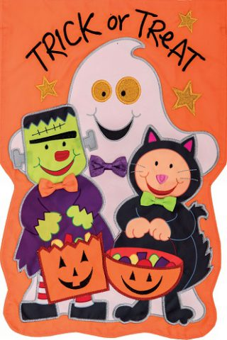 Ready to Trick or Treat Flag | Applique Flag | Halloween Flags | Cool Flags