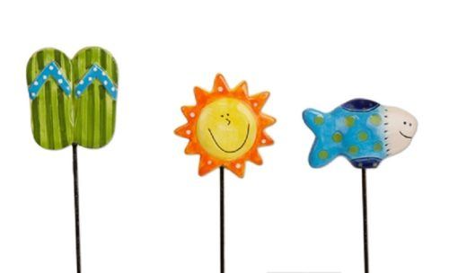 Summer Fun Plant Pokes | Stakes | Plant Stakes | Garden House Flags