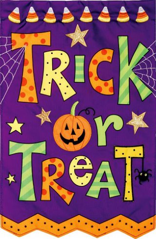 Trick or Treat Applique Flag | Halloween Flags | Applique Flags | Cool Flag