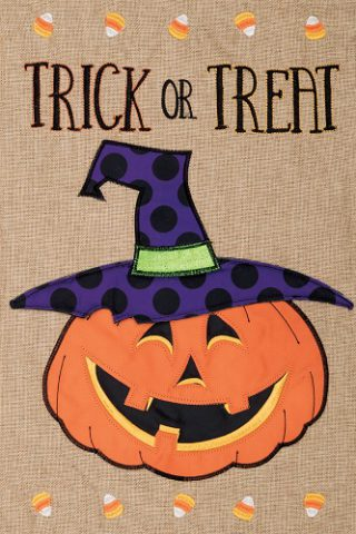 Trick or Treat Jack Flag | Halloween Flags | Burlap Flags | Cool Flags