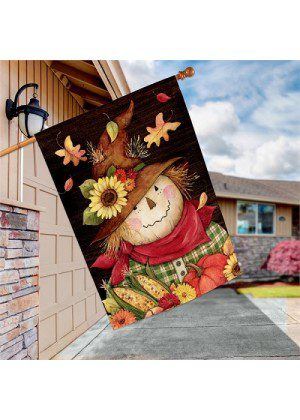 Autumn Scarecrow House Flag | Fall Flags | Flags | Garden House Flags