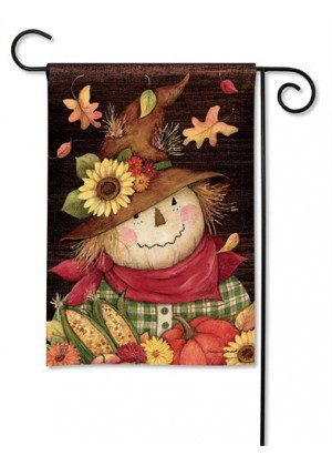 Autumn Scarecrow Garden Flag | Fall Flag | Thanksgiving Flag | Cool Flag