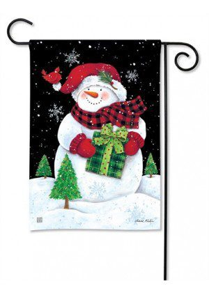Buffalo Check Snowman Garden Flag | Holiday Flags | Christmas Flags