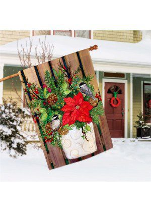 Chickadee Greeters House Flag | Christmas Flags | House Flags
