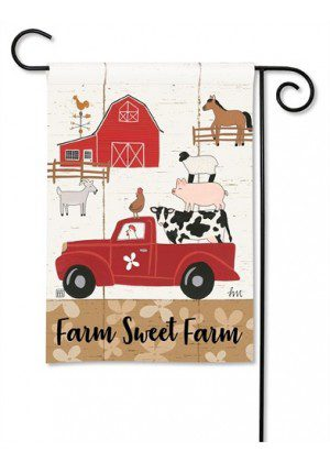 Country Roads Garden Flag | Farmhouse Flags | Animal Flags | Cool Flags