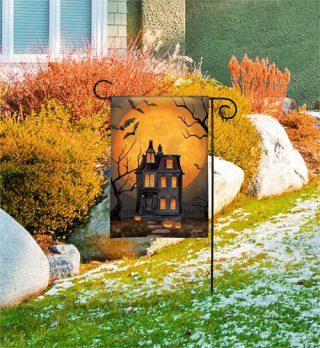 Dark Manor Garden Flag | Halloween Flags | Flags | Garden House Flags