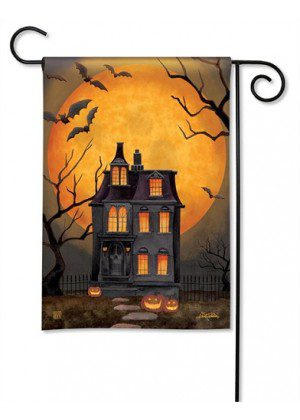 Dark Manor Garden Flag | Halloween Flags | Holiday Flags | Fall Flags