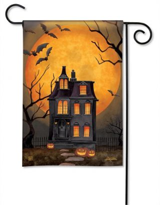Dark Manor Garden Flag | Halloween Flags | Holiday Flags | Cool Flags