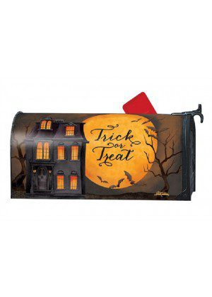 Dark Manor Mailbox Cover | Decorative Mailwrap | Mailbox Covers
