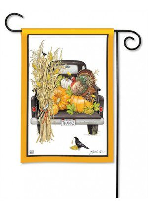 Fall Truck Garden Flag | Fall Flags | Cool Flags | Thanksgiving Flags | Flag