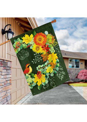 Fall Wreath Flag | Autumn Flags | Fall Flags | Flags | Garden House Flags