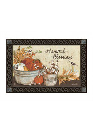 Farmhouse Pumpkins Doormat | Doormat | MatMate | Decorative Doormat
