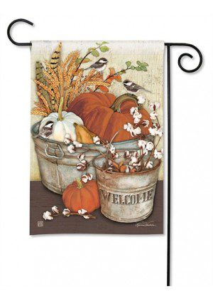 Farmhouse Pumpkins Garden Flag | Farmhouse Flags | Welcome Flags