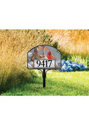 Fresh Snow Yard Sign | Address Plaque | Yard Sign | Garden House Flags