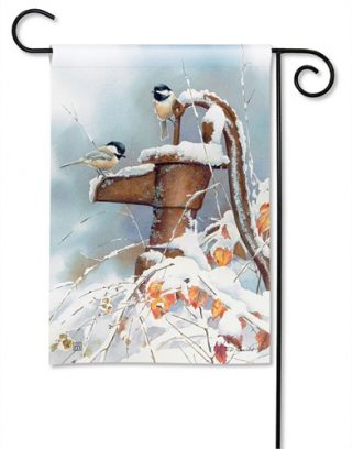 Frozen Pump Garden Flag | Winter Flags | Bird Flag | Decorative Flags