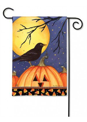 Halloween Crow Garden Flag | Halloween Flags | Holiday Flags | Fall Flags