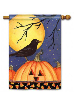 Halloween Crow House Flag | Halloween Flags | Holiday Flags | Fall Flags