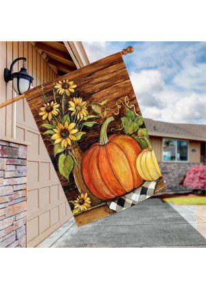 Harvest Gathering Flag | Decorative House Flag | Garden House Flags