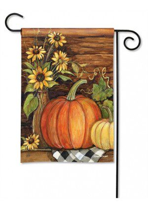 Harvest Gathering Garden Flag | Thanksgiving Flags | Fall Flag | Yard Flag