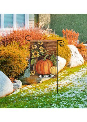 Harvest Gathering Garden Flag | Thanksgiving Flag | Garden House Flags