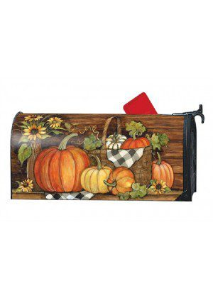 Harvest Gathering Mailbox Cover | Decorative Mailwraps | Mailbox Covers