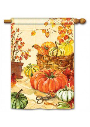 Heirloom Pumpkin House Flag | Fall Flags | Floral Flags | Yard Flags