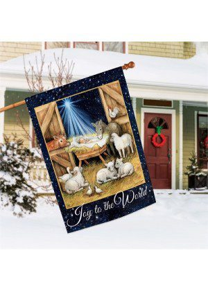 Joy to the World House Flag | Christmas Flags | Holiday Flags | Yard Flags