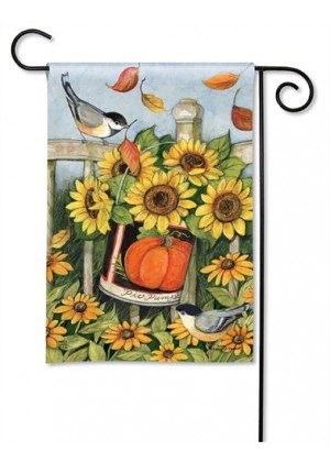 Left for the Birds Garden Flag | Fall Flag | Floral Flag | Bird Flag | Yard Flag