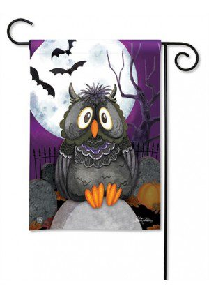 Moonlight Owl Garden Flag | Halloween Flags | Holiday Flags | Fall Flags