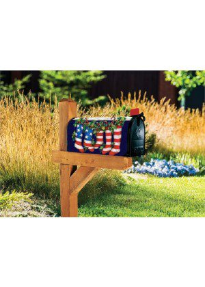 Patriotic Stockings Mailbox Cover | Mailwraps | Mailbox Covers
