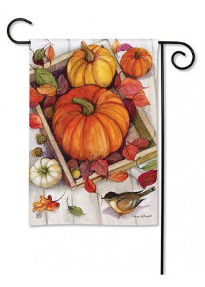 Pumpkin Crate Garden Flag | Fall Flags | Yard Flags | Thanksgiving Flags