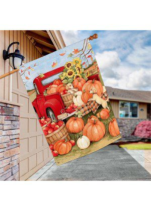 Pumpkin Delivery House Flag | Fall Flags | Flags | Garden House Flags
