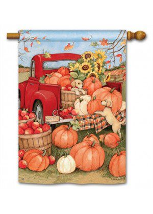 Pumpkin Delivery House Flag | Fall Flags | Floral Flags | Yard Flags | Flags