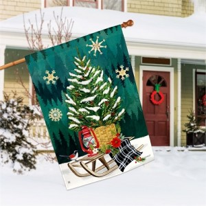 Scandi Christmas Tree House Flag | Christmas Flags | Garden House Flag