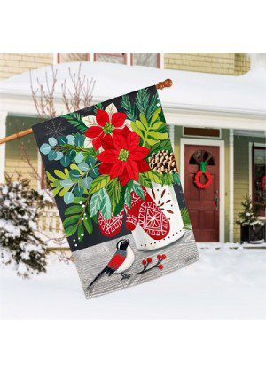 Scandi Mittens House Flag | Christmas Flags | Holiday Flags | Yard Flags