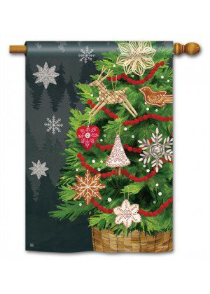 Scandi Ornaments House Flag   Christmas Flags   Holiday Flags   Flags