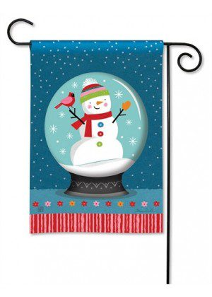 Snow Globe Garden Flag | Winter Flags | Snowman Flags | Christmas Flag