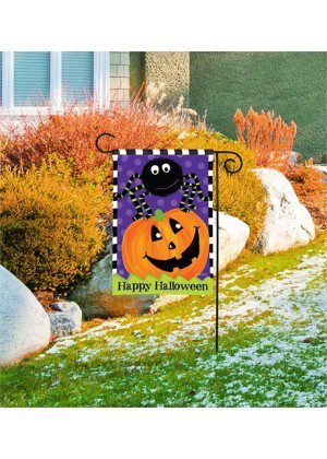Spider and Jack Garden Flag | Halloween Flags | Garden House Flags