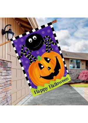Spider and Jack House Flag | Halloween Flags | House Flags