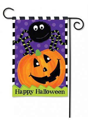 Spider and Jack Garden Flag | Halloween Flags | Holiday Flags | Fall Flags