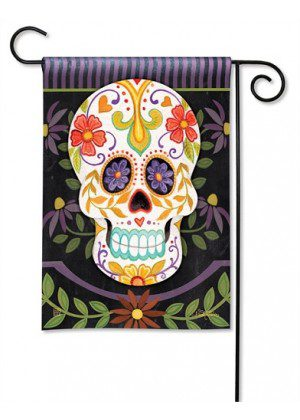 Sugar Skulls Garden Flag | Halloween Flags | Holiday Flags | Fall Flags