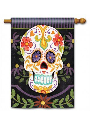 Sugar Skulls House Flag | Halloween Flags | Holiday Flags | Fall Flags